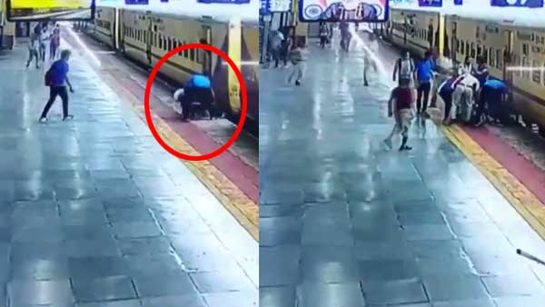 WATCH: Alert passenger saves Indore woman from falling under train while boarding moving train in MP