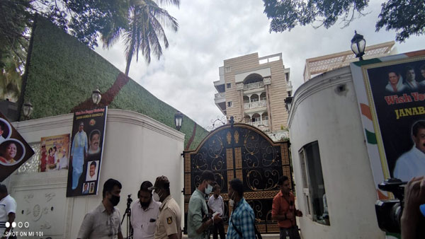 ED raids on Congress MLA from Chamarajapete Zameer Ahmed Khan's house, offices