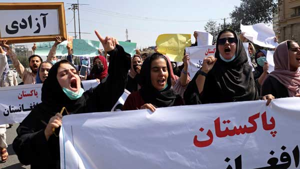 Death to Pakistan chants in Afghanistan: Taliban fires in air to disperse protesters