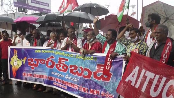 Heavy rains in Andhra Pradesh dampens 'Bharat Bandh'