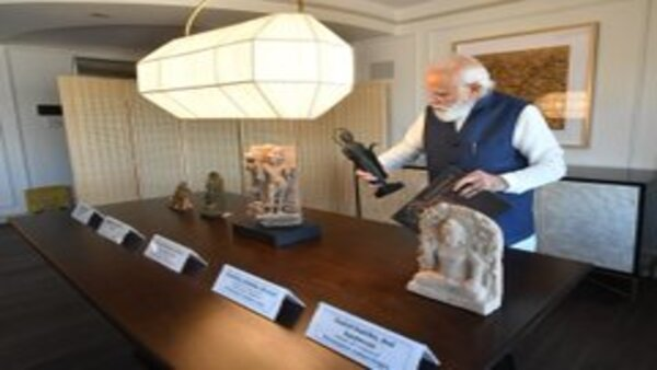 In pics: PM Modi to bring home 157 artefacts, antiquities from US
