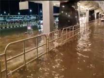 Photos: Heavy Rain Lashes And Cause Flooding At Bengaluru Airport