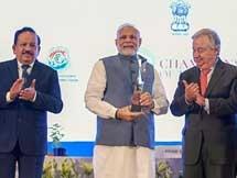 PHOTOS: PM Narendra Modi Receives UN Champions Of The Earth Award 2018