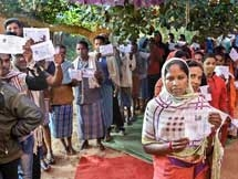 PHOTOS: Assembly Elections Polling In Chhattisgarh