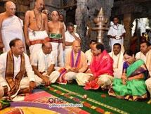 Photos: Telangana CM KCR And His Family Offer Prayers At Tirumala