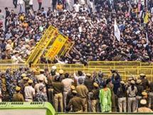 Photos: Students Protest At JNU Campus In New Delhi