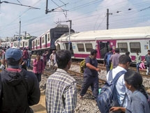 Photos: Two Trains On Same Track Collide At Railway Station In Hyderabad
