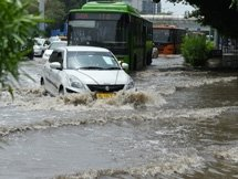 Photos: Waterlogging In Delhi Roads Due To Rainfall