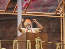 Photos: PM Narendra Modi Addresses The Nation During 74th Independence Day Celebrations