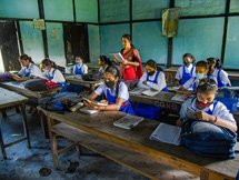 Photos: Schools Reopen Across India