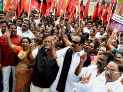 Tmc Mdmk Protest Seeking Release Of Files On Subhash Chandra Bose