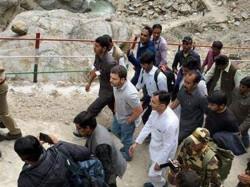 Rahul Gandhi Treks To Kedarnath Pays Respect To Flood Victims