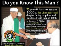 Meet This Real Hero A 73 Year Old Farmer Who Donated For Chennai Floods