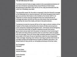 Ndtv Blackout It Is Like Emergency Says Editors Guild