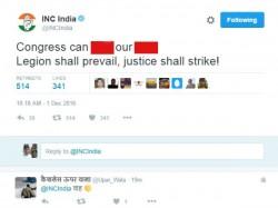 Is Isis Legion Behind Rahul Congress Twitter Hacking