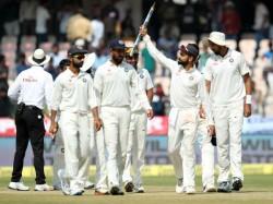 Photos Unbeaten India Thump Bangladesh 208 Runs One Off Test Hyderabad