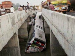 Killed As Bus Plunges Into Canal Andhra