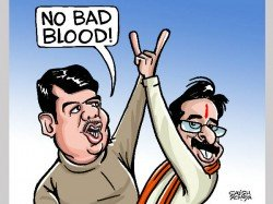 Hurray Poll Victory Turns Bjp And Shiv Sena Buddies Again Cartoon February