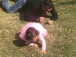 Must See Video Ms Dhoni Loses To Little Daughter Ziva
