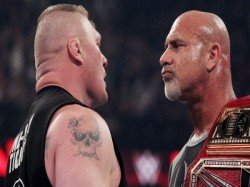 Wwe Goldberg Vows His Match Against Brock Lesnar Will Be Blood Fest