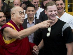 Australian Cricket Team Meets Dalai Lama Dharamsala Ahead 4th Test India