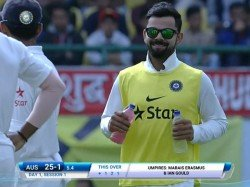 th Test Injured Virat Kohli Carries Drinks Team Mates