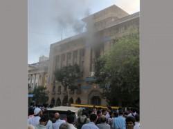 Fire Breaks At Bank India Building Mumbai