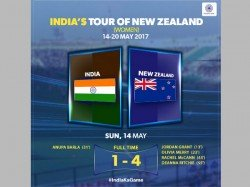India Eves Go Down 1 4 Against New Zealand Hockey Series Opener