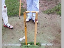 Bizarre Middle Stump Uprooted But Bails Remain Intact