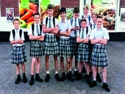 How British Boys Skirted Ban On Shorts Wearing Skirts