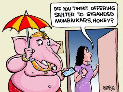 Even Lord Ganesha Failed Save Mumbai From Drowning