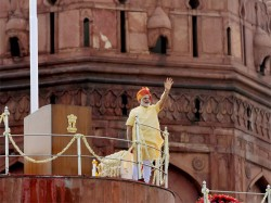 Kite Lands At Podium As Modi Was Completing Independence Day Speech