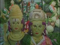 Ahead Independence Day Tn Temple Gets 5 000 Kg Vegetable M