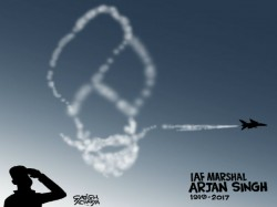India Salutes Iaf Marshal Arjan Singh On His Final Journey T