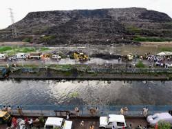 Ghazipur Garbage Mountain Collapse Kills 2 Authorities Pass The Buck