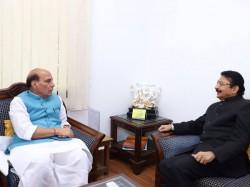 Aiadmk Crisis Tn Governor Meets Rajnath Singh Amid Political Tumoil