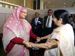 Sushma Skips Discussion On Rohingyas With Sheikh Talks On W