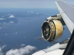 Air France A380 With Engine Damage Makes Emergency Landing