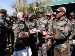 Modi Tweets Diwali Wishes Likely Celebrate With Jawans