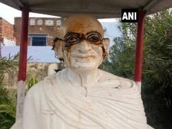 Mahatma Gandhi S Bust Set On Fire In Madhya Pradesh