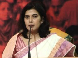 Will Gouge Out Eyes Of Our Rivals Says Bjps Saroj Pandey