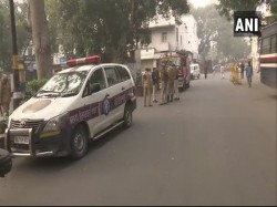 Delhi Bomb Scare At Khan Market Sniffer Dogs Action