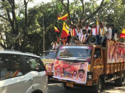 Pro Kannada Groups Demand Jobs Kannadigas Rally Sees Massive Support