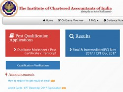How To Check Icai Ca Cpt 2017 Results