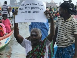 Chennai Fisherfolk Stage Jal Satyagraha To Save Ennore Creek