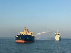 Mt Genessa Oil Tanker Operation Continues Douse Fire 26 Rescued