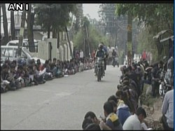 Hp Students Sit Read Books On Road Protest Against Lack Ba