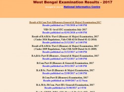 West Bengal Exam Results 2017 For Bcom Part 1 Declared How To Check