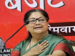 Rajasthan Vasundhara Raje Says No Guarantee Fulfil Budget Announcements