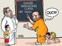 Yogi Campaigning In Karnataka But Beaten In His Own Backyard